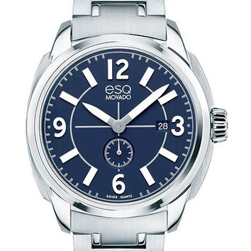 ESQ Movado Mens Excel Watch - Blue Dial - Stainless Steel - Date