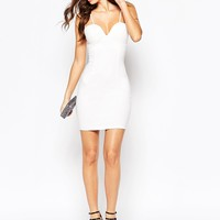 NaaNaa Body-Conscious Dress With Strappy Tie Back Detail