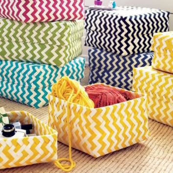Kids' Storage Collections: Kids' Multi-Colored Chevron Baskets