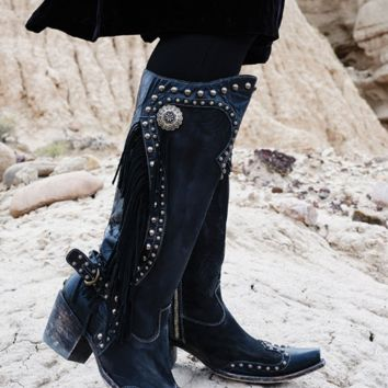 Double D Ranch Rusty Ravine Boots by Old Gringo ~ Black