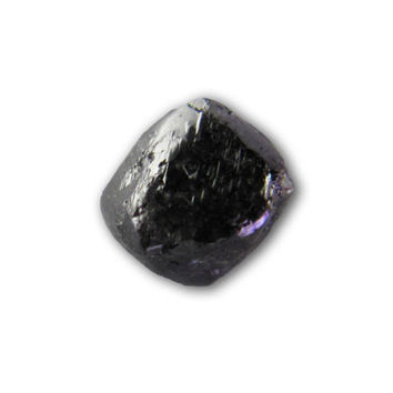 1/3 carat, Black Octahedron Uncut diamond, Rough diamond, Raw diamond (3.5 mm)