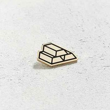 Mean Folk Gold Bricks Pin - Urban Outfitters