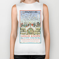 Leslie Knope for City Council - Parks and Recreation Dept. Biker Tank by Jasey Crowl