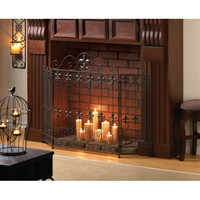 Fleur De Lis Fire Place Screen