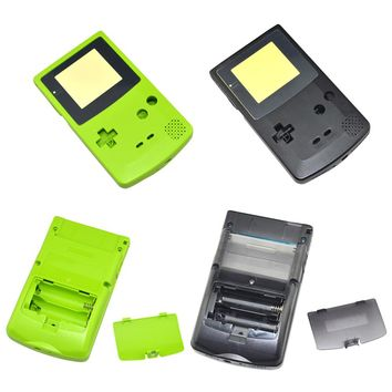 For Game Boy for Color Black Green Replacement Housing Shell For GBC Housing Case Pack