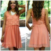 Dream Decadence Peach Babydoll Dress