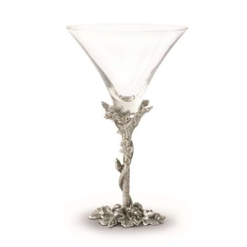 Acorn & Oak Leaf Pewter Cocktail Glass