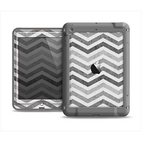 The Gray Toned Wide Vintage Chevron Pattern Apple iPad Mini LifeProof Nuud Case Skin Set