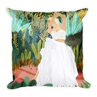 Forest Bride Square Pillow