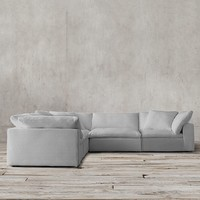 Cloud Modular Slipcovered Corner Sectional