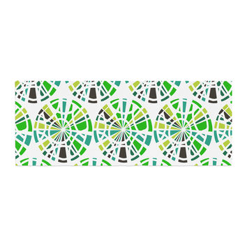 "Patternmuse ""Precious Emerald"" Green Olive Illustration Bed Runner"