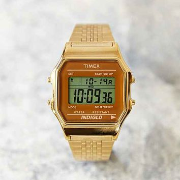 Timex 80 Gold Digital Watch- Gold One