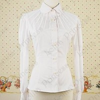 2015 Autumn White Adult Formal long Sleeve Classical Slim lolita Blouses For japanese Lace Princess Women's Blouse Cosuom-in Blouses & Shirts from Women's Clothing & Accessories on Aliexpress.com | Alibaba Group