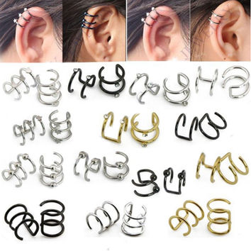 Rings Cartilage Clip-On Ring Helix Earrings Non Pierced