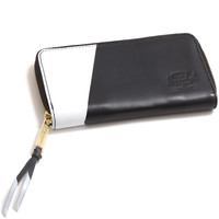 Thomas Leather Wallet Black / White Print