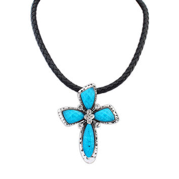 New Arrival Shiny Stylish Gift Jewelry Strong Character Punk Cross Rack Necklace [4918865284]