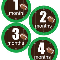 SALE Baby Monthly Stickers, football monthly, football Onesuit, Onesuit stickers, sports baby shower, football baby shower, football baby