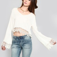 BLISSFUL CROCHET BLOUSE