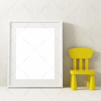 Frame Photography Style / Frame Mockup / Nursery Mockup / picture frame / photo frame / white  frame