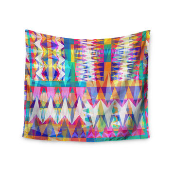 "Miranda Mol ""Triangle Collage"" Pastel Geometric Wall Tapestry"