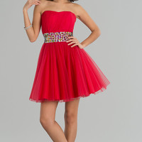 Short Strapless Prom Dress
