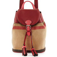 Mini Check Canvas Backpack - Burberry