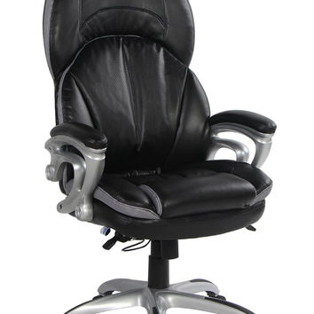 VIVA OFFICE High Back Double Padded Bonded Leather Office Chair with Soft Spring Pack Padding '