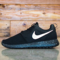 NIKE Women Men Running Sport Casual Shoes Sneakers Black starry sky soles snowfield