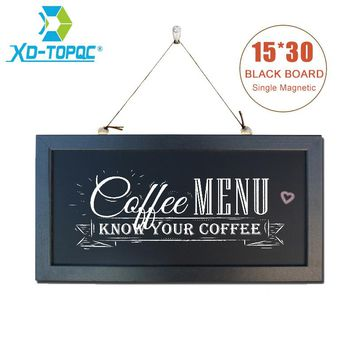 Free shipping Chalkboard New MDF Wood Frame Magnetic Blackboard Dry Wipe Chalkboard Memory Board 15*30cm With Free Accessories