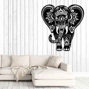 Wall Vinyl Decal Indian Elephant Pattern Skin Home Interior Decor Unique Gift z4676