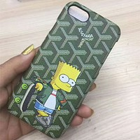 Simpson iphone6s mobile phone shell tide brand iphone7plus couple protector Green