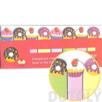 Colorful Cupcakes and Donuts Food Themed Memo Post-it Index Bookmark Tabs