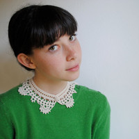 Custom Made Crochet Lacelike Shirt Collar by twoknit on Etsy