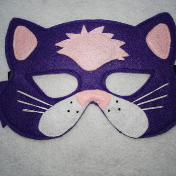 Children's PURPLE CAT Farm Animal Felt Mask, Brown Bear, Brown Bear, What Do You See?