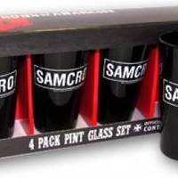 Sons Of Anarchy Pint Glasses - SAMCRO Black
