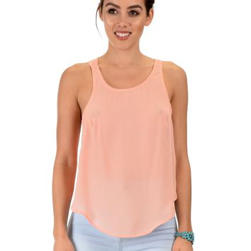Lyss Loo Totally Crossed Out Pink Tank Top