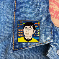 Sulu Pin, Soft Enamel Pin, George Takei, Star Trek, Jewelry, Art, Gift (PIN152)