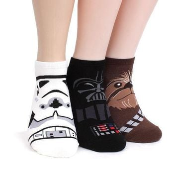Star Wars Socks Collection Men And Women Socks (men's Lowcut(nia) 4pairs) One Size Fits All Men's 8.5 11(women's 6 8.5)