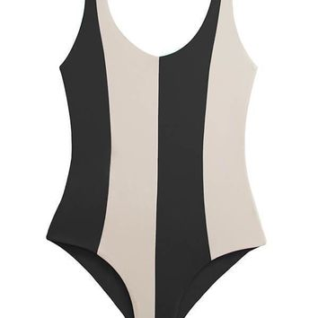 MAYLANA Ari Black Beige One Piece