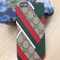 Perfect GUCCI Fashion Pattern Print iPhone Phone Cover Case For iphone 6 6s 6plus 6s-plus 7 7plus