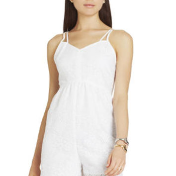Strappy Romper in White/Yellow/Red - BCBGeneration