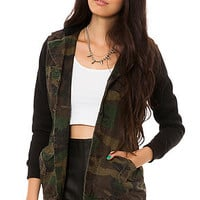 Lira Jacket Combat Cotton Canvas Hooded in Camo