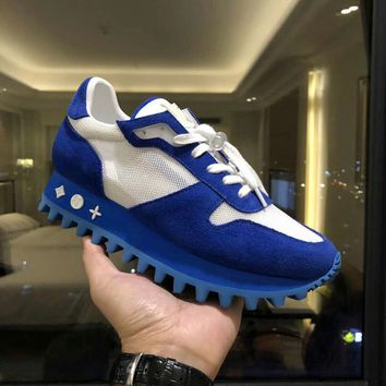 Louis Vuitton LV Women Men Fashion Casual Sports Shoes Blue