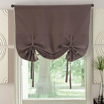 Curtain Panels Blackout Fabrics Short Curtains for Kitchen Modern Bedroom Decorations Solid Roman Drapes Cortina