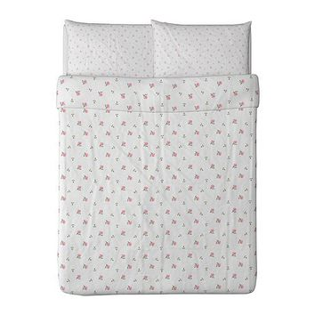 EMELINA KNOPP Duvet cover and pillowcase(s) - Full/Queen (Double/Queen)  - IKEA