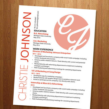 "Custom Resume -  ""The Christie"""