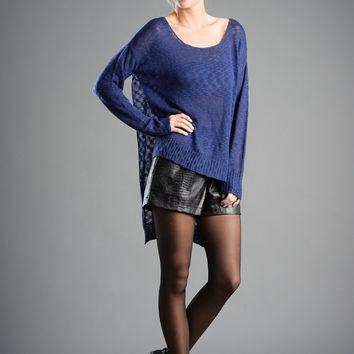 Side Slit High-Lo Sweater