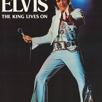 Elvis Presley The King Lives On Poster 20x28