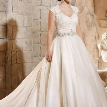 Julietta by Mori Lee 3185 Lace Ball Gown Plus Size Wedding Dress