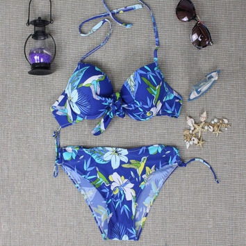 2016 Summer Womens Halter swimwear Hummingbird Swimwear Swimsuit Gift